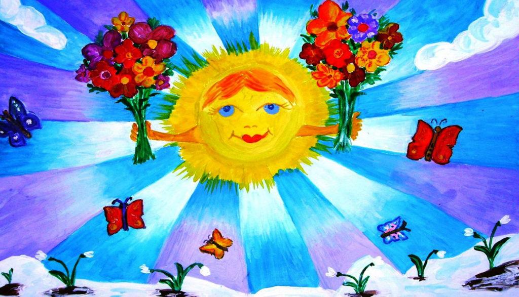 Рисунок ко дню весны