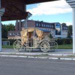 В объезд торгов: на Хлебной площади Елабуги установили карету до проведения аукциона